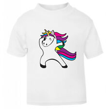 Dabbing Dab Unicorn T-Shirt Children's Kids T Shirt Boys Girls Age Size Top New