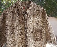 Hilo Hattie The Hawaiian Original Mens Island TAN BROW Hawaiian Shirt~X-Large XL