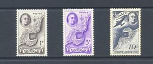 Monaco 1946 SG 330,332,334 Roosevelt Commemoration  Air MH