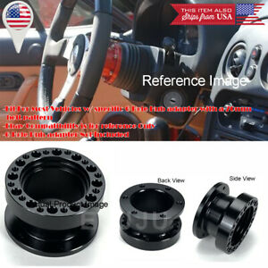 """2"""" Black Steering Wheel Hub Extender Extension Spacer For Ford Chevy Dodge"""
