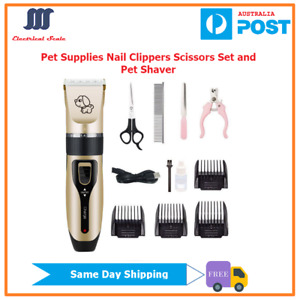 [Sydney Stock]Cat and Dog Pet Supplies Nail Clippers Scissors Set and Pet Shaver