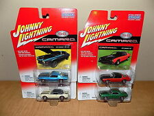 JOHNNY LIGHTNING Camaro 1967 Z28 1969 Z28 RS 1970 Z28 RS 1977 RS NEW ON CARD NEW