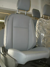 Ford Transit OEM Front Row Passenger Seat; Gray Vinyl; With Base and Airbag
