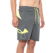 New listing Under Armour Swim Shorts Mens Size Large Grey Big Icon Swim Trunk Shorts New