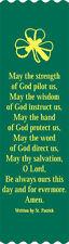 """St Patrick Prayer"" Bible Bookmark Ribbons, pack of 10"