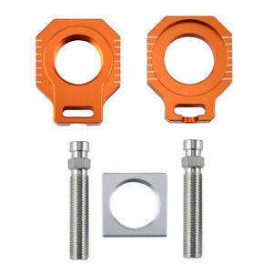 CNC Rear Axle Block Chain Adjuster For KTM 85 125-530 SX SXF EXC EXC-F XCW XCF-W