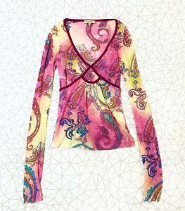 Womens Etro Milano Silk Long Sleeve Top