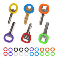 32 Pcs Candy Color Hollow Silicone Key Cap-Covers Topper Keyring Circle Holder