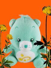 "Care Bear Rainbow Yellow Star Plush Stuffed Soft Bear 9"" Tall Teddy 2003 Nanco"