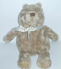 Bear Plush Lovey Soft Cuddly Beige Excellent Cond. Baby Child 13""