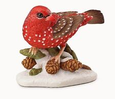 Lenox 2016 Christmas Strawberry Finch Bird Figurine New In Box