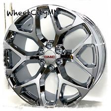 22 Inch Chrome Snowflake Gmc Sierra 1500 Yukon Denali Oe Replica Wheels 6x55