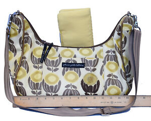 Petunia Pickle Bottom Yellow Floral Hobo Baby Chic Diaper Bag & Changing Pad