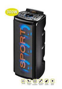 SANSAI Bluetooth Wireless 300W Karaoke Party Speaker w/FM Radio/AUX/USB/TF Card