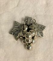 Estate Brooch & Pendant Pin Grapes Sterling Silver 925 - Taxco Mexico - Vintage