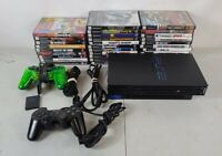 SONY PLAYSTATION 2 PS2 Black Fat Console Bundle! 2 Controllers, Memory, 30 Games