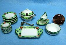 Dollhouse Miniature Dinnerware Set with Plates & Servers 15 Pcs ~ MT706