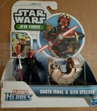 Star Wars Jedi Force Playskool Heroes Darth Maul & Sith Speeder Brand New Mint