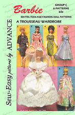 Vintage Barbie Pattern for 11 1/2 inch dolls such as barbie - wedding trousseau