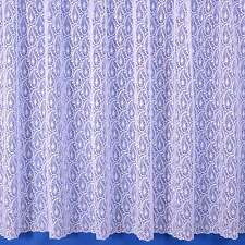 Paisley Net Curtain In White - Sold By The Metre - Multiple Drops Available