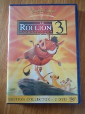 LOT 2 ** LE ROI LION 3 ** EDITION COLLECTOR losange N°71 WALT DISNEY comme neuf