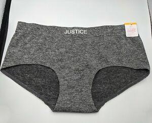 Justice Oh So Soft Boyshort Stretch Basic Panties Tan/pink/white tween underwear