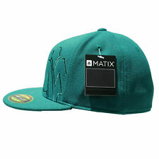 Matix CROPPER 210 Mens Fitted Hat Marine Blue Green S/M NEW