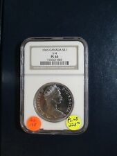 1965 Canada Silver Dollar NGC PL64 NEAR GEM UNCIRCULATED V-4 $1 COIN BUY IT NOW!