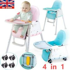 Portable Travel Baby High Chair Infant Soft Leather Feeding Table Seat Nursery