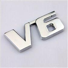 3D Metal Chrome V6 Boot Badge Wing Body Universal Car Emblem Van UK Seller TDI