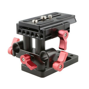 CAMVATE Quick Release Baseplate Plate with Rod Clamp for Manfrotto Accessory