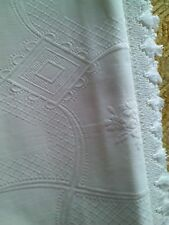 coperta bianca degli anni '50 - estiva /Blanchet d'été /Coberto /Bedeckt