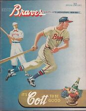 1951 Boston Braves vs New York Giants Program Scorecard Scored Correctly