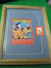 Framed-DISNEY 6 Cent Stamp w. MICKEY MOUSE Mag Cover #8.................SALE