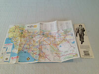 Vintage 1970's-80's O.J. SIMPSON HERTZ Rent-A-Car Advertisement & Map of L.A.