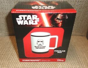 "Disney Star Wars mug Storm Trooper  ""you can go about your business"""