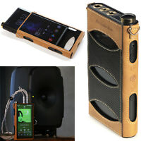 Leder Tasche Schutzhülle Case Cover Knob Cover Lanyard für FiiO M15 Music Player