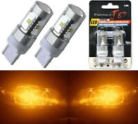 LED Light 30W 7440 Amber Orange Two Bulbs Rear Turn Signal Replace Lamp Fit
