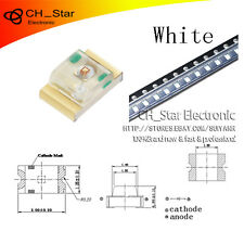 100PCS 0805(2012)SMD SMT LED White Light Emitting Diodes Super Bright