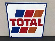 Total oil  gasoline racing metal advertising sign formula 1 f1