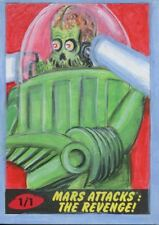 Mars Attacks The Revenge [2017] Sketch Card By Sobot Cortez