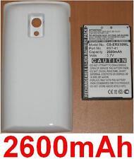 Hülle weiß + Batterie 2600mAh für Sony Ericsson Xperia x10, Xperia X10a