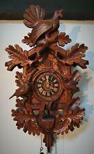 More details for a quality august schwer cuckoo clock 3 bird & horn superb detail vg cond