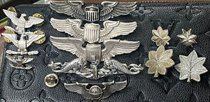Military US Army Air Force Pilot Wing Marked Sterling Lot