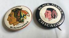Chicago Blackhawks vintage buttons plus 2 key holders!