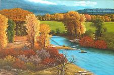 John Leone Original Oil on Canvas Painting of a Landscape