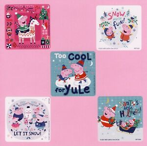 15 Peppa Pig Christmas - Large Stickers - Party Favors - Winter Holiday