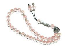 0066 - 8mm Pink Glass Gemstone Prayer Beads Worry Beads Tasbih Handmade