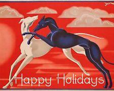 Art Deco Greyhound Christmas Cards - Set of 4, with envelopes