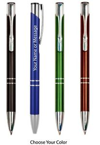 Engraved Personalized Pen Choice of 4 Colors Velvet Pen Sleeve and Hard Case Inc